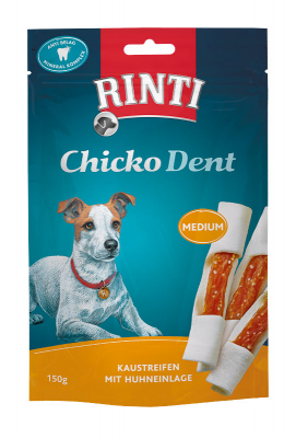 Rinti Chicko Dent Kaustreifen mit Huhn 150 g Beutel