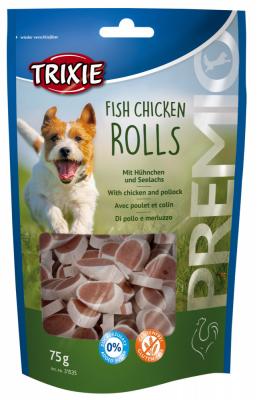 TRIXIE PREMIO Fish Chicken Rolls 75 g Beutel