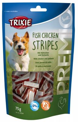 TRIXIE PREMIO Fish Chicken Stripes 75 g Beutel