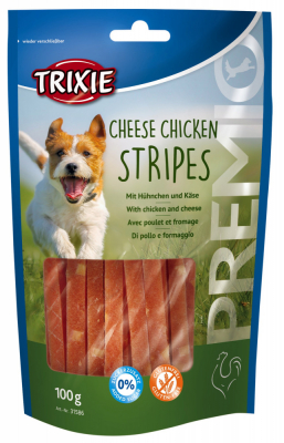 TRIXIE PREMIO Cheese Chicken Stripes 100 g Beutel