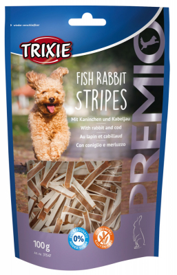 TRIXIE PREMIO Fish Rabbit Stripes 100 g Beutel