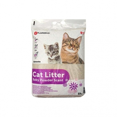 Cat Litter Baby Powder Scent 15 kg