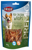 TRIXIE PREMIO Fish Chicken Wraps 80 g Beutel