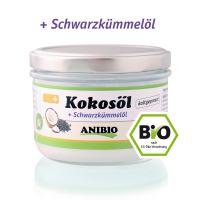 ANIBIO Kokosöl + Schwarzkümmelöl 200 ml